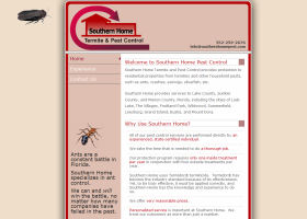 Portfolio Screen Shots - Southern Home Pest Control